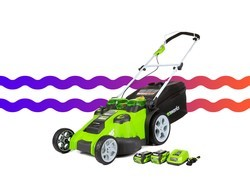 Ditch the gas with this battery-powered GreenWorks lawn mower for $260
