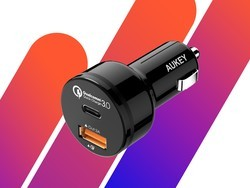 Charge USB-C and USB-A devices with this $9 Aukey car charger