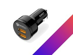 Grab Aukey's car charger with two Quick Charge 3.0 ports for just $9