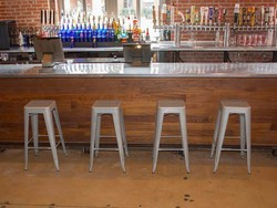 Restyle your kitchen with a $99 four-pack of AmeriHome Metal Bar Stools