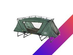 This oversized tent cot sets up in seconds and is down to an all-time low