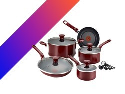 Grab T-fal's 14-piece nonstick cookware set for just $47