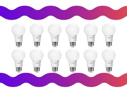 Brighten up your day with this $21 12-pack of Philips A19 LED light bulbs