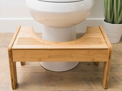 The $52 bamboo Squatty Potty helps you look good while you poo