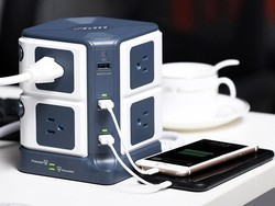 This $31 surge protector provides six USB ports and eight AC outlets