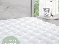 Sleep comfortably with this extra plush pillowtop mattress pad