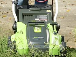 Get yard work done with the Greenworks electric lawn mower on sale for $130