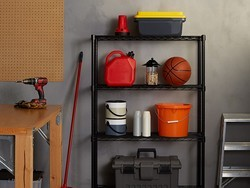 These shelves make it easy to get your garage in order