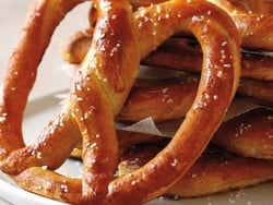 Pick up a salty snack with buy one, get one free pretzels at Auntie Anne's