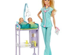 Treat your kiddo to a Barbie Baby Doctor Doll playset for just $13