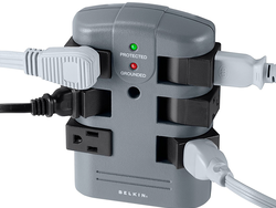This $14 Belkin Pivot-Plug Power Strip protects from surges