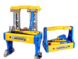 Get the imaginary job done with this 70-piece toy workbench and tool set on sale for $14