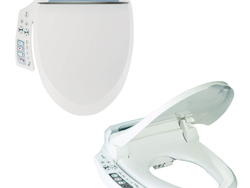 The $236 Bio Bidet Toilet Seat uses dual nozzles and heat to get you truly clean