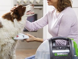 Bathe your dog easily with this $49 Bissell BarkBath portable system