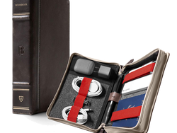 The $40 BookBook CaddySack travel case secures smaller tech inside a seemingly-antique book