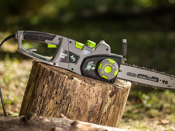 This 2-in-1 Corded Convertible Chainsaw can change into a pole saw