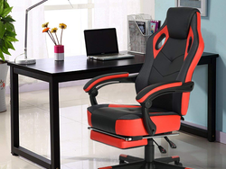 This $109 Reclining Computer Gaming Chair features a pull-out footrest