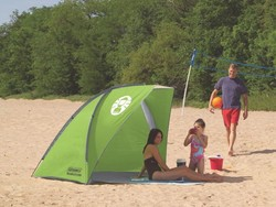 This $28 Coleman beach shade will give you a home base outside
