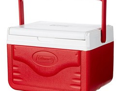 Keep your drinks nice and cold with this $8 Coleman FlipLid personal cooler