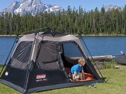 Take this 4-person Coleman Instant Cabin with you for $76
