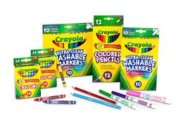 Select Crayola back to school essentials are discounted by up to 30%