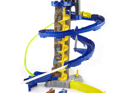 Play with Thomas & Friends engines on this $11 DC Super Friends Batcave set