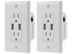 This two-pack of Dynex USB Wall Outlets is down to $15 today only