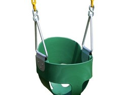 Make memories with this $36 Eastern Jungle Gym Full Bucket Toddler Swing