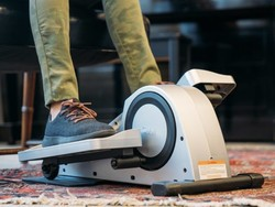 This discounted under-desk elliptical can connect to your phone, Fitbit, and Apple HealthKit