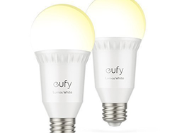 Lighten up your home on schedule with two eufy Lumos Smart Bulbs for $26