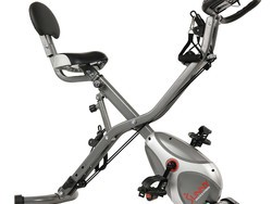 This $130 folding upright exercise bike will help get you in shape without taking up much space