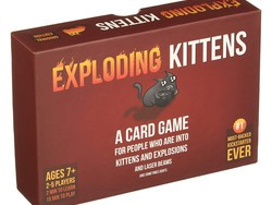 Have a blast with the $16 Exploding Kittens card game
