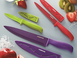 Add some color to your kitchen with Farberware's $6 Non-Stick Resin Knife Set