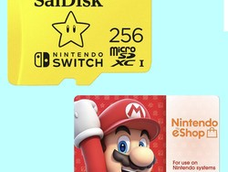 Get a 256GB microSD card and $50 gift card for your Switch for $95 total