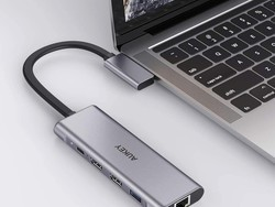 Do more with your MacBook with Aukey's 9-in-2 USB-C hub on sale for $42