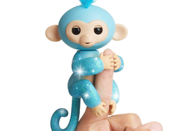 Put a blue glittery Fingerlings monkey under the tree for $7