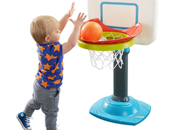 This $35 Fisher-Price Grow-to-Pro Junior Basketball set can grow along with your toddler
