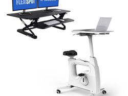 Fight the sedentary life with limited time discounts on FlexiSpot fitness and standing desks