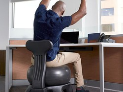 Work out while you work with this $59 Gaiam yoga ball chair
