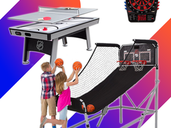Game room essentials like Foosball and Air Hockey are on sale today only at Amazon