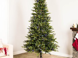This $98 Ashville Fir 7-foot Artificial Christmas Tree is equipped with 500 color changing lights