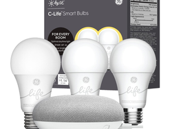 This discounted Smart Light Starter Kit comes with three GE smart bulbs and a Google Home Mini for $35