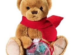 Gift someone a cute Godiva teddy bear and a bag of chocolates for $18