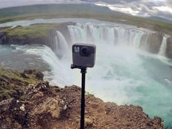 The GoPro Fusion on sale for $199 captures the action in every direction