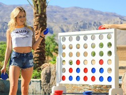 This giant GoSports 4-in-a-row yard game is down to $73