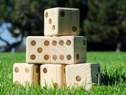 Take your drinking games up a notch with these $20 giant yard dice