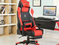 GreenForest's $154 Leather High Back Gaming Chair features a retractable footrest