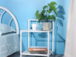 Add some flair to your bedroom with two GreenForest nightstands for $42