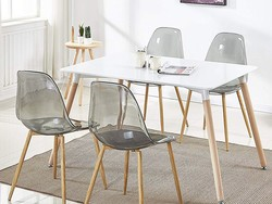 Update your dining room with four GreenForest smoky acrylic dining room chairs for $112