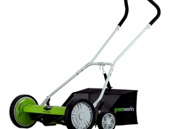 Greenworks' $86 Push Reel Lawn Mower requires no gas to cut your yard